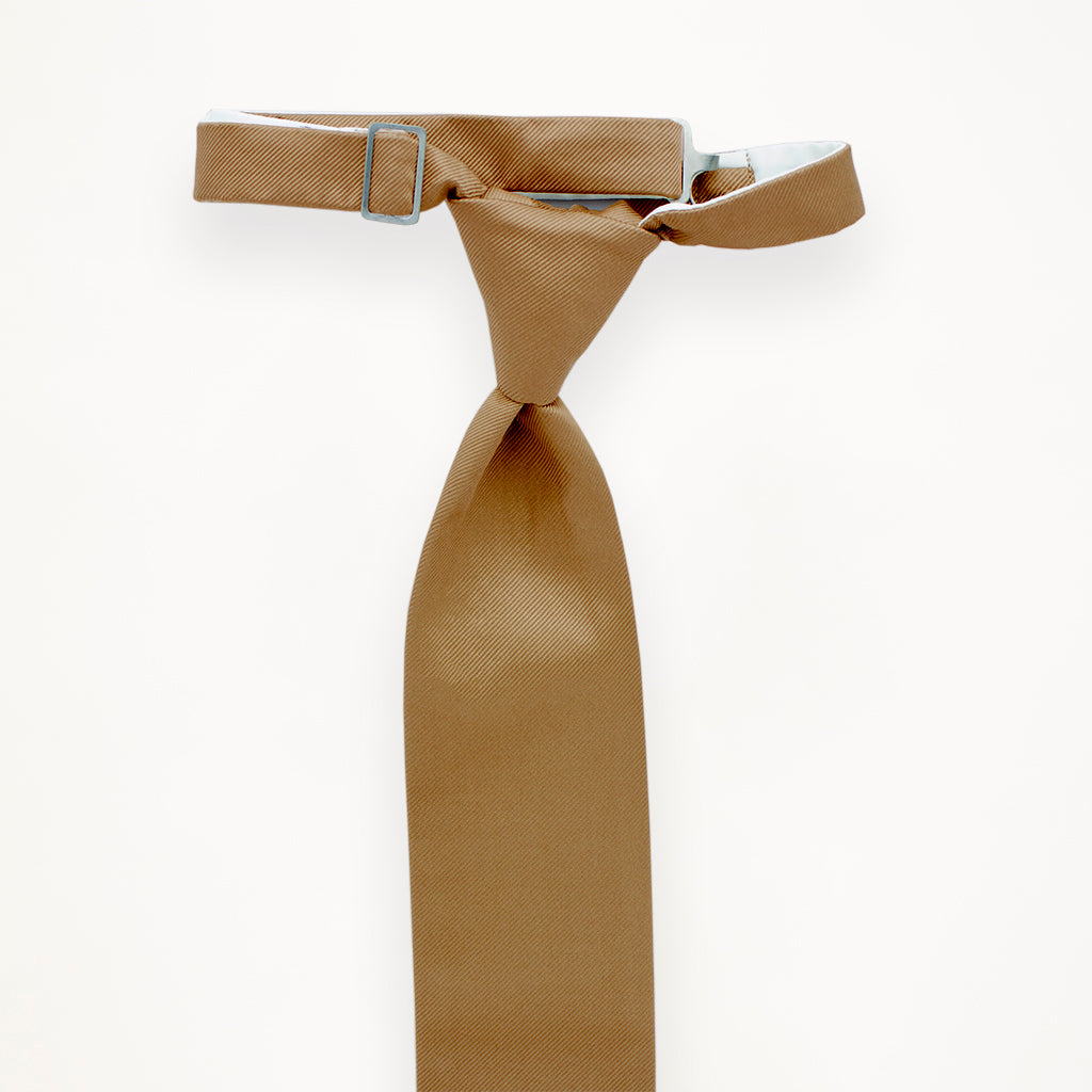 Toffee Savvi Solid Long Tie