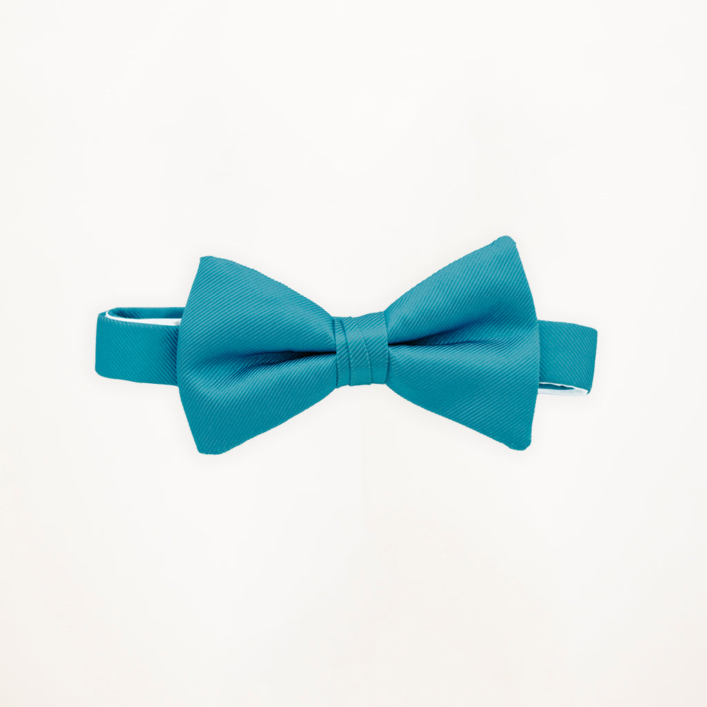 Turquoise Savvi Solid Bow Tie