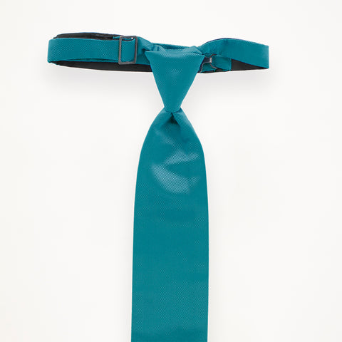 Turquoise Savvi Solid Long Tie