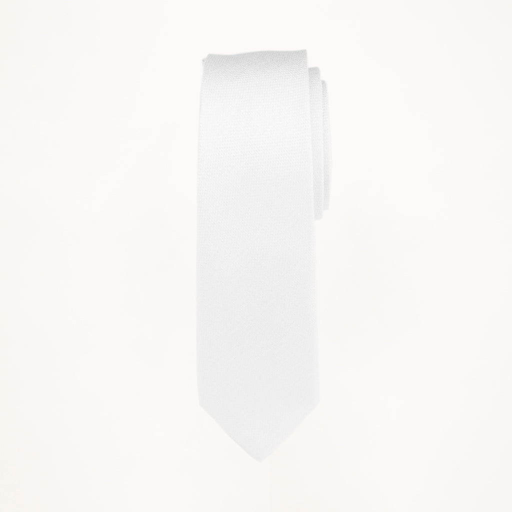 White Matte Long Tie