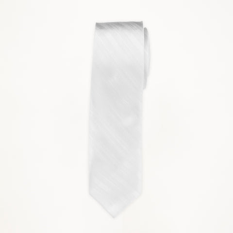 White Stripe Long Tie