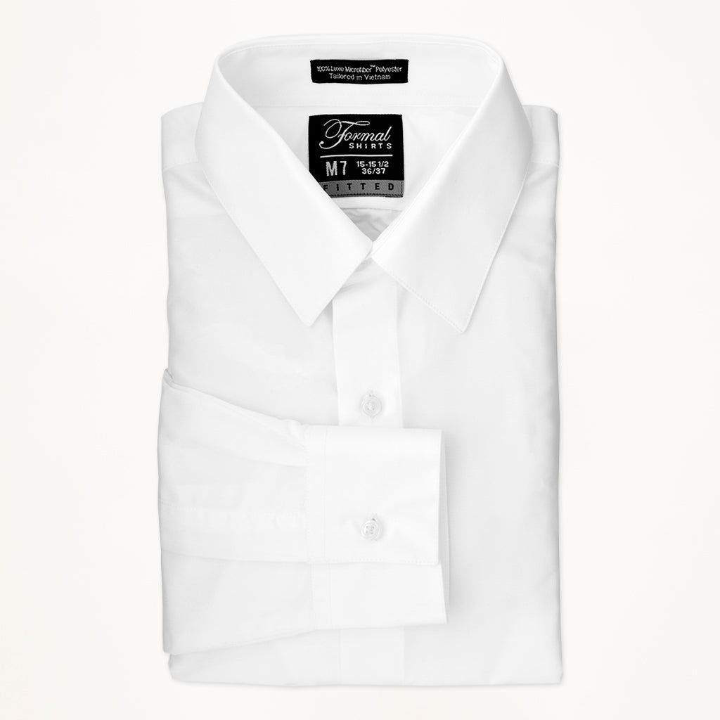 White Microfiber Laydown Shirt