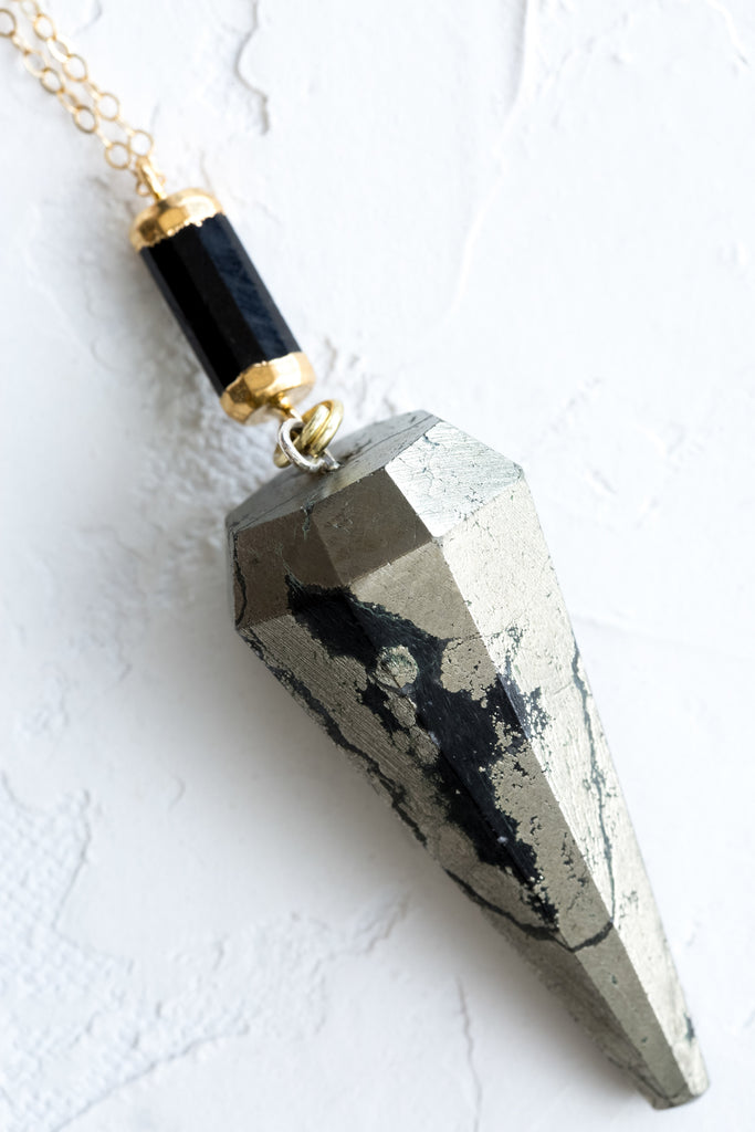 Black Spinel | Pyrite - Mend Jewelry