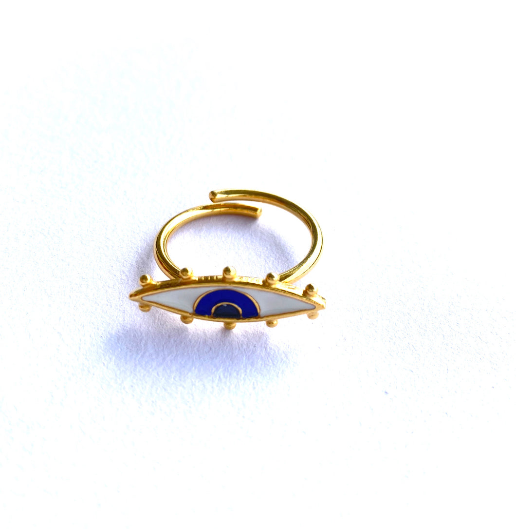 Aristea enamel eye ring