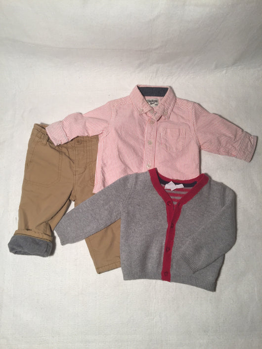 Boys (#148) 3pc Red and Gray