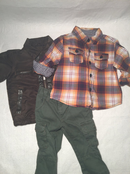 Boys (#152) 3pc Warm Plaid
