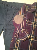 Boys (#142) 2pc Purple Plaid