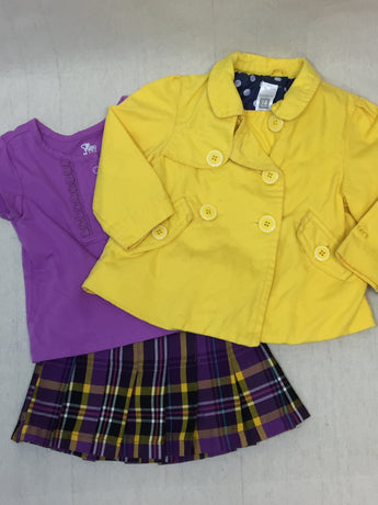 Girls (#123) 3pc Sunshine Outfit