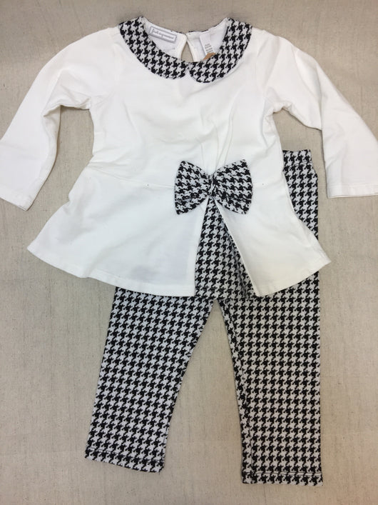 Girls (#101) 2pc Black and White with Bow