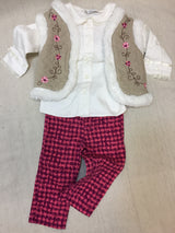 Girls (#122) 3pc Spring Flowers Outfit