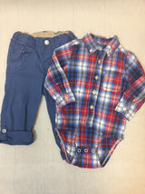 Boys (#143) 2pc Red White Blue