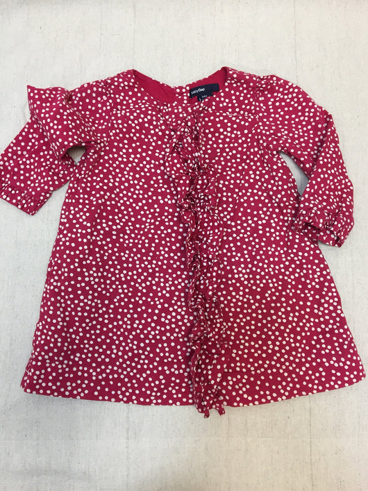 Girls (#134) Red Polka Dot Dress