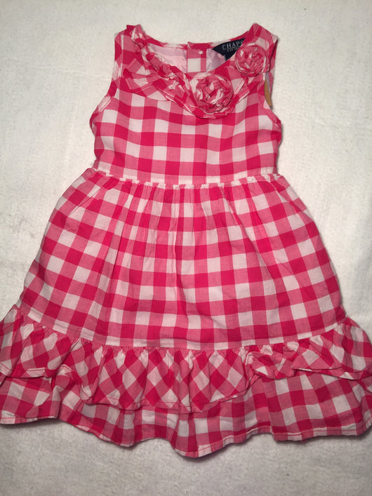 Girls (#77) Chaps Gingham Dress
