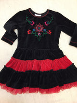 Girls (#137) Velour Flower Time Dress