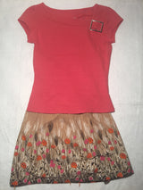 Girls (#103) 2pc Coral Floral