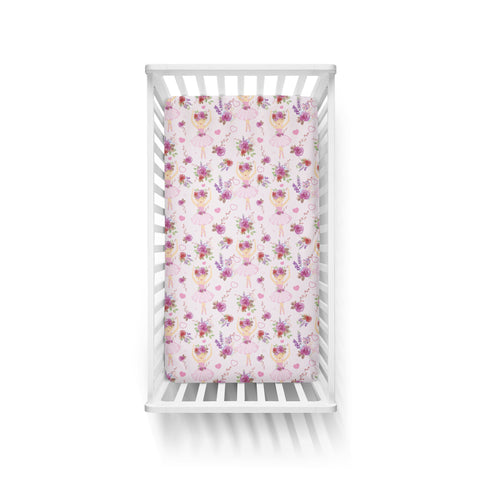 Dancing Ballerinas Cot Fitted Sheet
