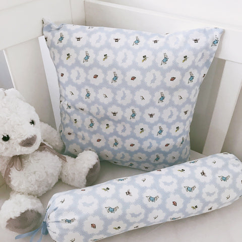 Blue Peter Rabbit cushion cover and bolster set