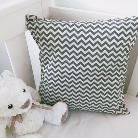 Grey and White Chevron Cushion Cover