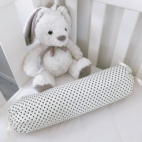 Mini Hearts on Ivory Bolster