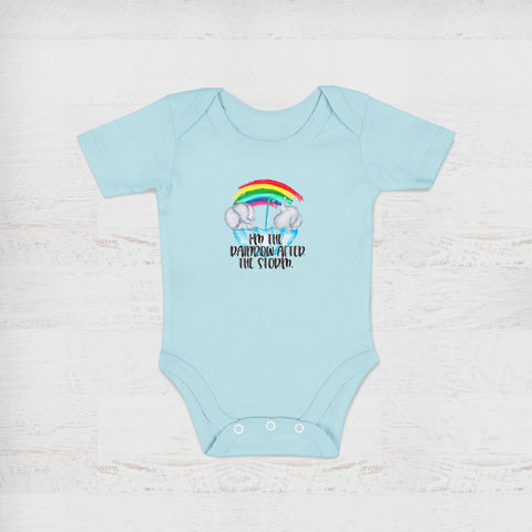 I'm The Rainbow After The Storm Blue Baby Onesie