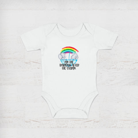 I'm The Rainbow After The Storm White Baby Onesie