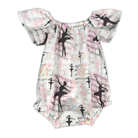 Musical Floral Ballerinas Seaside Playsuit