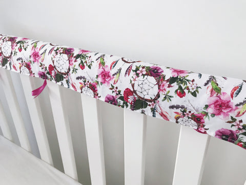 Floral Dreamcatchers Teething Rail Cover