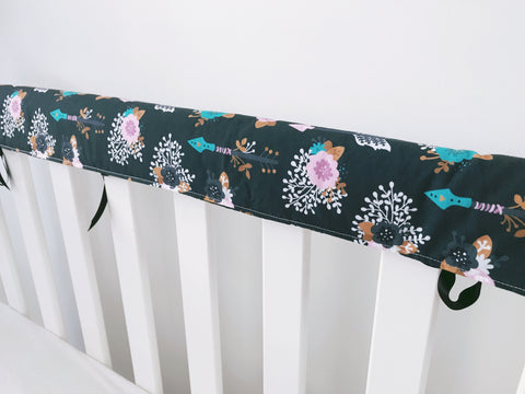 Arrow Blooms Teething Rail Cover