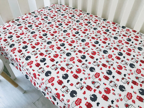 Hello Kitty Cot Fitted Sheet