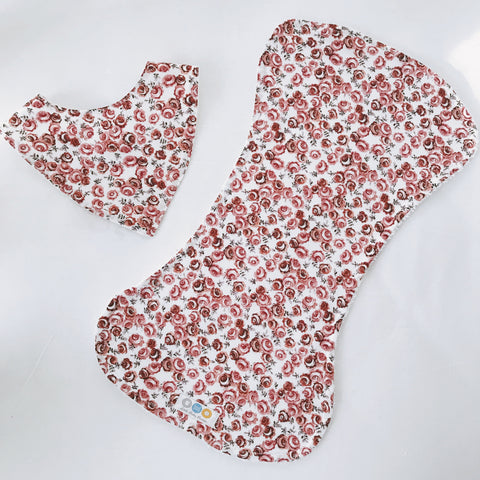 Valerie Floral Bib And Burp Cloth