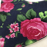 Vivien Navy Floral Bib And Burp Cloth