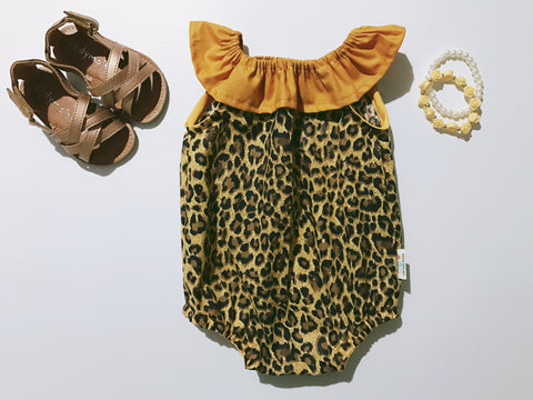 Leopard and Mustard Seaside Playsuit