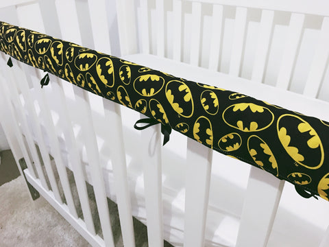 Black and Yellow Batman Teething Rail Cover