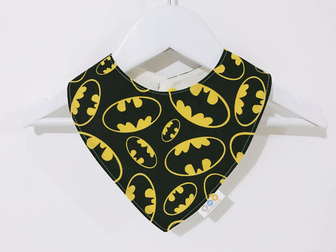 Yellow and Black Batman Bandana Bib