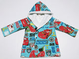 Blue Cars Fully Lined Hooded Jacket