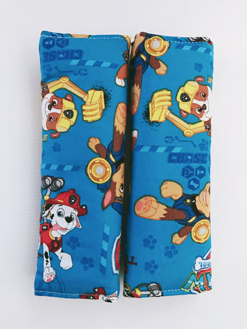 Paw Patrol On Blue Baby Seat Belt Covers