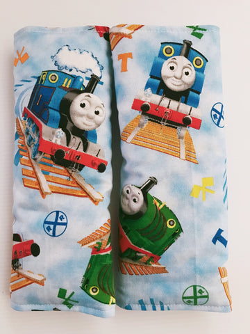 Thomas On Light Blue Baby Seat Belt Covers