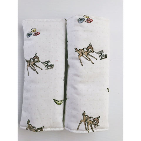 Bambi on White Baby Seat Belt Covers