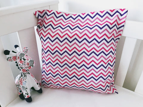 Pink and Purple Chevron Cushion Cover