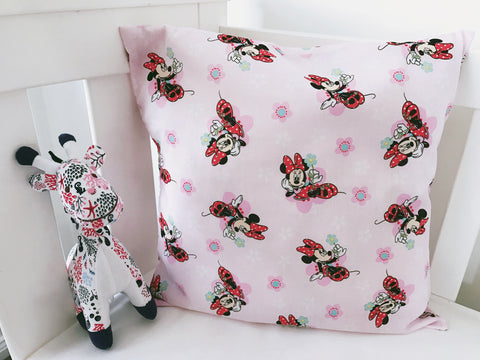 Pink Minnie Mouse Cushion Cover