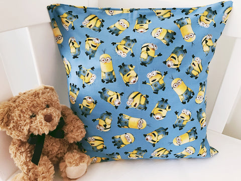 Blue Minions All Over Cushion Cover