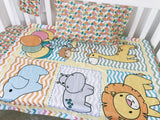 Colourful Unisex Safari Cot Quilt Set
