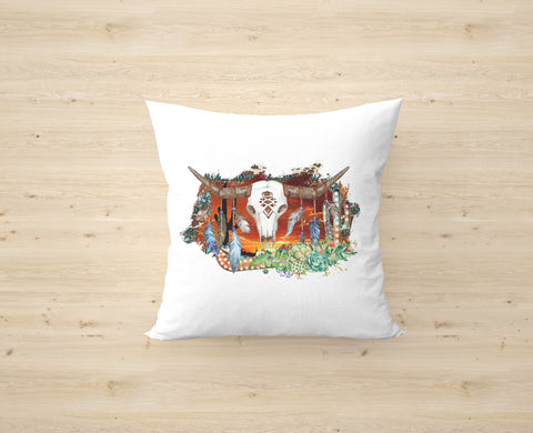 Sunset Longhorn Cushion Cover