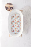 Tribal Foxes and Teepees Bassinet Fitted Sheet