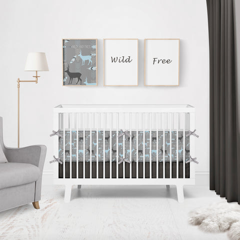 Wild And Free Deers Cot Bumpers