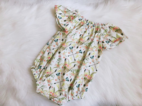 Floral Longhorns & Arrows Seaside Playsuit