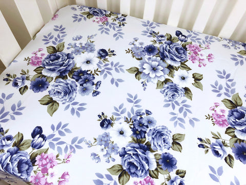 Wynter Floral Cot Fitted Sheet