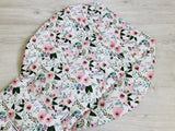 Soft Pink Watercolour Florals Universal Pram Liner