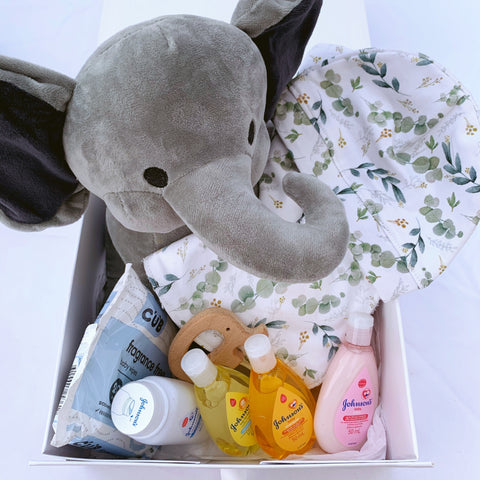 Newborn Gift Set - Neutral Eucalyptus Leaves