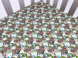 Jungle Tigers Cot Fitted Sheet